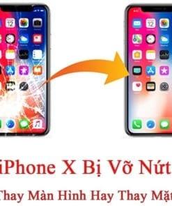 iPhone X Bị Vỡ Nứt Nên Thay Màn Hình Hay Thay Mặt Kính?